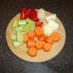 Chopped vegetables for duck stock