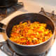 Bring water & flowers to a boil, take off heat, cover and let steep for 10 minutes.