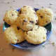 Tea cookies with orange zest, dried cranberries and almond slivers.