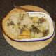 Portioning haggis, tatties and neeps pie