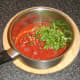 Preparing spicy tomato sauce