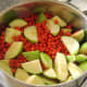 Rowan berries and apples ready for stewing