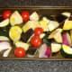 Mediterranean vegetables ready for roasting