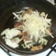 Cabbage and onion added to stir frying ox kidneys