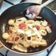 Sauteeing leek, chilli and garlic