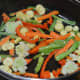 Step three: Saute all pre-cooked vegetables