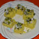 Step four: Cut dhokla in desired shapes. Serve them hot with mint-coriander chutney or tomato sauce.