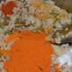 Step five: Add Vangi bath masala powder, red chili powder, turmeric powder, jaggery powder, and salt. Mix well. Cook on low fire.