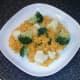 Turmeric rice with broccoli and cauliflower