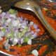 Step three: Add chopped spring onion whites.