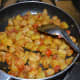 Stir-cooking the mixture