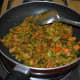 Step eight: Stir-cook for 1 to 2 minutes. Turn off the stove. Now, the curry is ready to serve.