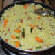 Step five: Your favorite lemon rice with diced carrots is ready.