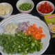 Step two: Chop the veggies as per instructions.