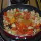 Step five: Add turmeric powder, subzi masala/garam masala powder, red chili powder, and coriander powder.