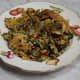 Variation on choi poh omelette: diced snake beans and sliced fresh chillies added.