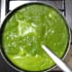 Your favorite cream of spinach soup is ready!