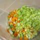 Chopped vegetables.