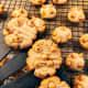 Bake cookies until they turn golden brown.