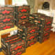 Here are our 400 pounds of tomatoes, waiting to be processed.