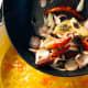 Combine the stir-fry mixture into the pot.