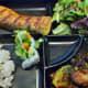 Glazed salmon bento box