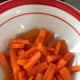 1 small carrot, peeled and cut diagonally