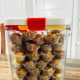 To preserve the crispiness of the cookies, store them in an airtight container.