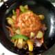 Rogan josh sauce is added to stir fried vegetables