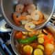 Step 6: Add the prawns.