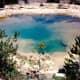 Algae colored pool in Yellowstone
