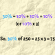 (This is easy math, but the method works the same way with harder numbers.)