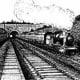 The old railway line in Staple Hill, Bristol of how it looked back in 1965 before it was decommissioned.