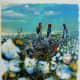 """One of the """"Picking Cotton"""" series of paintings, by Charles Criner"""