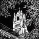 Original limited-edition linocut I created of St. Patrick Church in Galveston, Texas