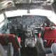 Inside of a Boeing 707-120 cockpit.