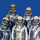 Mercury Astronauts (left to right) Schirra, Shepard, Slayton, Grissom, Glenn, Cooper, Carpenter. Photo courtesy of NASA.