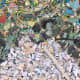 """""""Gyre"""" Close-up, Chris Jordan, 2009 (Depicts some of the millions of pieces of plastic seen in the image above.)"""