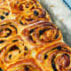 Warm and scrumptious cinnamon rolls. Enjoy rolls with a cup of coffee or tea.