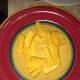 Slice the mangos into small pieces