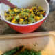 Add finely minced cilantro after the other ingredients are gently stirred together.