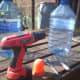 Drill and bottles