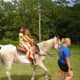 My granddaughter and niece on an old mare.