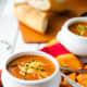 Tomato cheddar quinoa soup