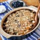 """Baked buckwheat """"oatmeal"""" with blueberries and almonds"""