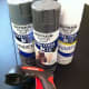 """Rustoleum now offers an """"Ultra-cover"""" spray paint that is advertised to bond to plastic as well as other challenging surfaces. Just to be safe, I'm still using a primer first on the vinyl wallboard that I can't sand. These spray paints & primers"""