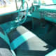 Interior Chevrolet BelAir with bench seating