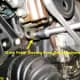 E.  Power steering pump belt adjustment bolt