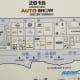 Map of inside NRG Center for 2018 Houston Auto Show