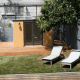 This model is a simple backyard bungalow.